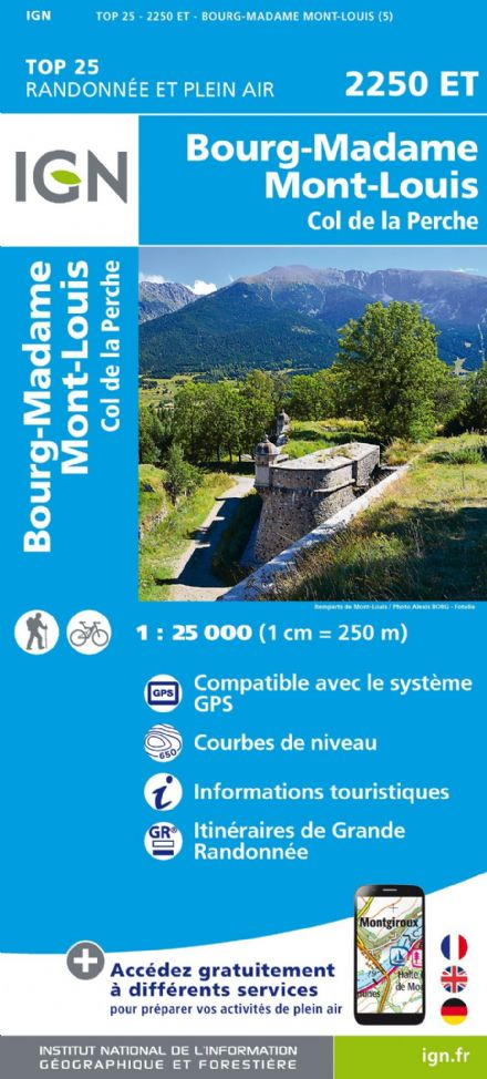 IGN Top 25 2250 ET - Bourg-Madame ( Mont Louis)